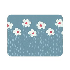 Cloudy Sky With Rain And Flowers Double Sided Flano Blanket (mini)  by CreaturesStore