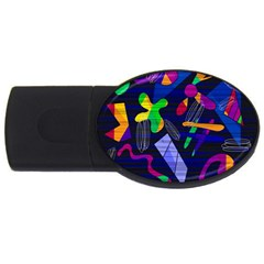 Colorful Dream Usb Flash Drive Oval (2 Gb)  by Valentinaart