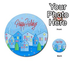 Xmas Landscape   Happy Holidays Multi Purpose Cards (round)  by Valentinaart