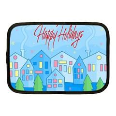 Xmas Landscape   Happy Holidays Netbook Case (medium)  by Valentinaart