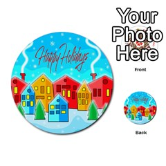 Christmas Magical Landscape  Multi Purpose Cards (round)  by Valentinaart