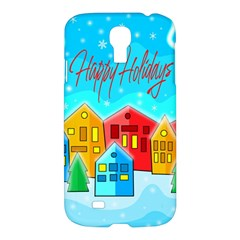 Christmas Magical Landscape  Samsung Galaxy S4 I9500/i9505 Hardshell Case by Valentinaart