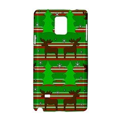 Christmas trees and reindeer pattern Samsung Galaxy Note 4 Hardshell Case by Valentinaart