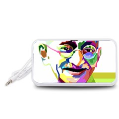 Ghandi Portable Speaker (White)  by bhazkaragriz