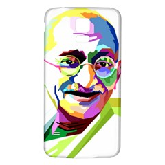 Ghandi Samsung Galaxy S5 Back Case (white) by bhazkaragriz