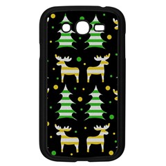 Decorative Xmas Reindeer Pattern Samsung Galaxy Grand Duos I9082 Case (black) by Valentinaart