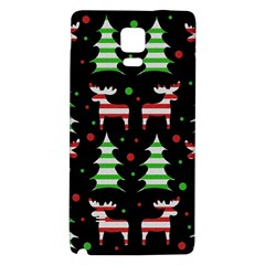 Reindeer Decorative Pattern Galaxy Note 4 Back Case by Valentinaart