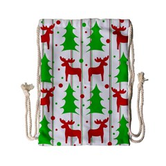 Reindeer Elegant Pattern Drawstring Bag (small) by Valentinaart