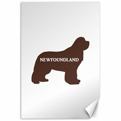Newfie Name Silo Brown Canvas 20  X 30   by TailWags