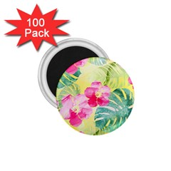 Tropical Dream Hibiscus Pattern 1 75  Magnets (100 Pack)  by DanaeStudio