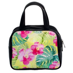 Tropical Dream Hibiscus Pattern Classic Handbags (2 Sides) by DanaeStudio