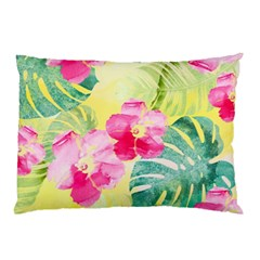 Tropical Dream Hibiscus Pattern Pillow Case by DanaeStudio