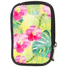 Tropical Dream Hibiscus Pattern Compact Camera Cases by DanaeStudio