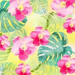 Tropical Dream Hibiscus Pattern Magic Photo Cubes by DanaeStudio