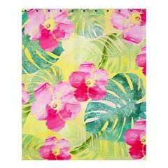 Tropical Dream Hibiscus Pattern Shower Curtain 60  X 72  (medium)  by DanaeStudio