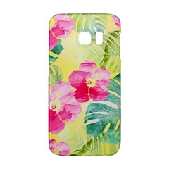 Tropical Dream Hibiscus Pattern Galaxy S6 Edge by DanaeStudio