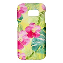 Tropical Dream Hibiscus Pattern Samsung Galaxy S7 Hardshell Case  by DanaeStudio