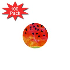 Abstract Watermelon 1  Mini Buttons (100 Pack)  by DanaeStudio