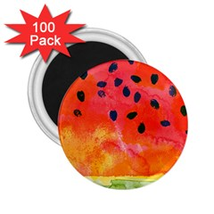 Abstract Watermelon 2 25  Magnets (100 Pack)  by DanaeStudio