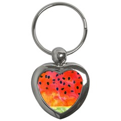 Abstract Watermelon Key Chains (heart)  by DanaeStudio