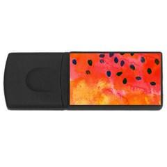 Abstract Watermelon Usb Flash Drive Rectangular (4 Gb)  by DanaeStudio