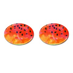 Abstract Watermelon Cufflinks (oval) by DanaeStudio