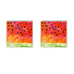 Abstract Watermelon Cufflinks (square) by DanaeStudio