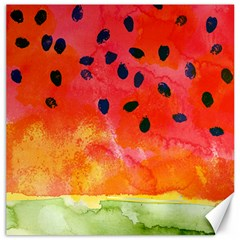 Abstract Watermelon Canvas 12  X 12   by DanaeStudio