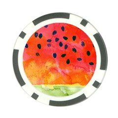 Abstract Watermelon Poker Chip Card Guards by DanaeStudio
