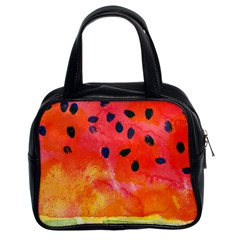 Abstract Watermelon Classic Handbags (2 Sides) by DanaeStudio