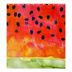 Abstract Watermelon Shower Curtain 66  X 72  (large)  by DanaeStudio