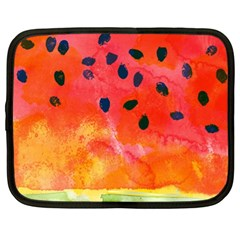 Abstract Watermelon Netbook Case (xl)  by DanaeStudio