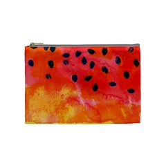 Abstract Watermelon Cosmetic Bag (medium)  by DanaeStudio