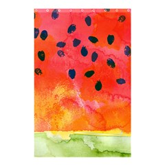 Abstract Watermelon Shower Curtain 48  X 72  (small)  by DanaeStudio