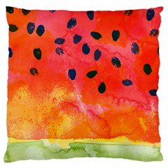 Abstract Watermelon Large Cushion Case (one Side) by DanaeStudio
