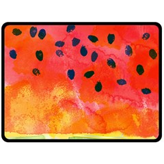 Abstract Watermelon Double Sided Fleece Blanket (large)  by DanaeStudio