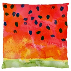 Abstract Watermelon Large Flano Cushion Case (two Sides) by DanaeStudio