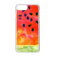 Abstract Watermelon Apple Iphone 7 Plus White Seamless Case by DanaeStudio