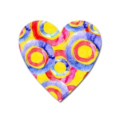 Blue And Pink Dream Heart Magnet by DanaeStudio