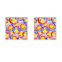 Blue And Pink Dream Cufflinks (square) by DanaeStudio