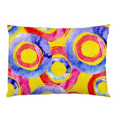 Blue And Pink Dream Pillow Case by DanaeStudio