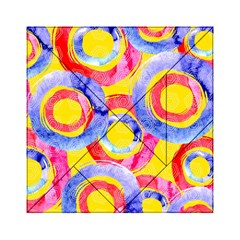 Blue And Pink Dream Acrylic Tangram Puzzle (6  X 6 ) by DanaeStudio