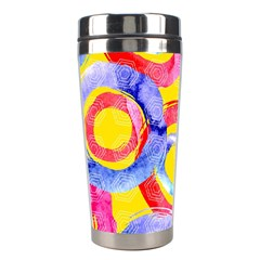Blue And Pink Dream Stainless Steel Travel Tumblers by DanaeStudio