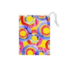 Blue And Pink Dream Drawstring Pouches (small)  by DanaeStudio