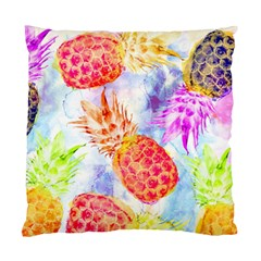 Colorful Pineapples Over A Blue Background Standard Cushion Case (two Sides) by DanaeStudio