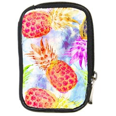 Colorful Pineapples Over A Blue Background Compact Camera Cases by DanaeStudio