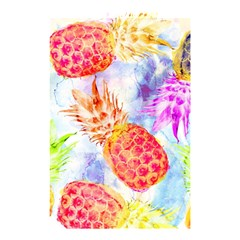 Colorful Pineapples Over A Blue Background Shower Curtain 48  X 72  (small)  by DanaeStudio