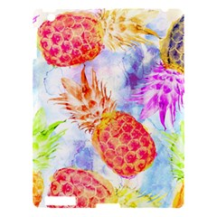 Colorful Pineapples Over A Blue Background Apple Ipad 3/4 Hardshell Case by DanaeStudio
