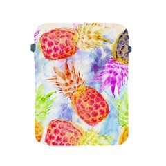 Colorful Pineapples Over A Blue Background Apple Ipad 2/3/4 Protective Soft Cases by DanaeStudio