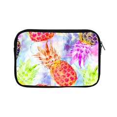 Colorful Pineapples Over A Blue Background Apple Ipad Mini Zipper Cases by DanaeStudio